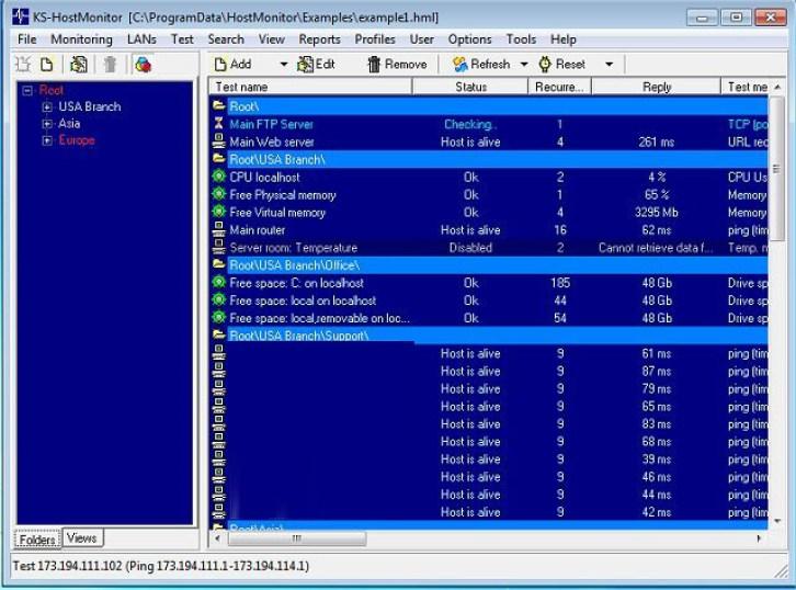 Advanced Host Monitor windows