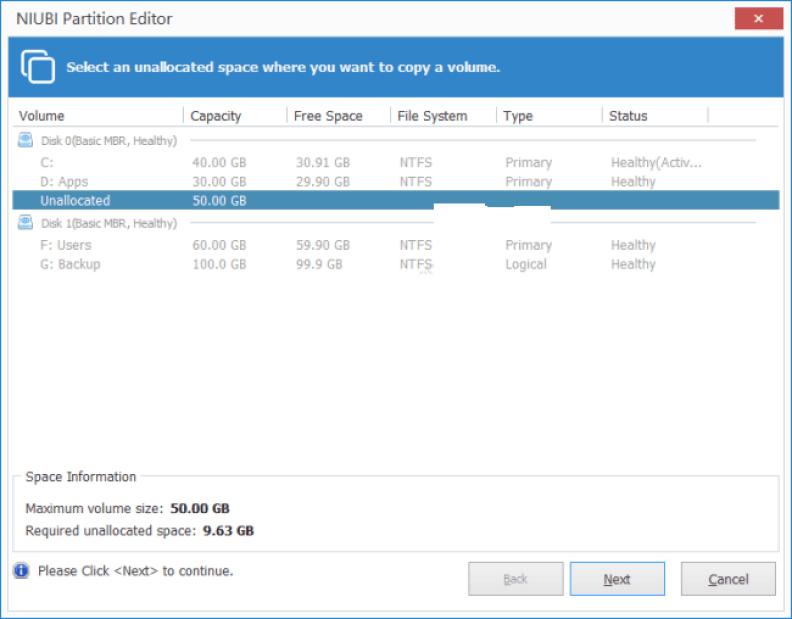 NIUBI Partition Editor windows