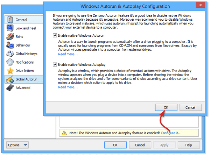 Zentimo xStorage Manager windows