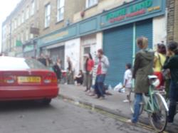 Busking on Brick Lane
