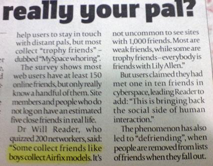 london paper article