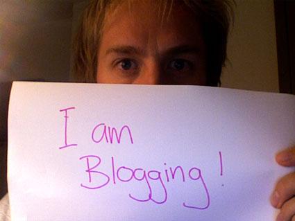 I am blogging