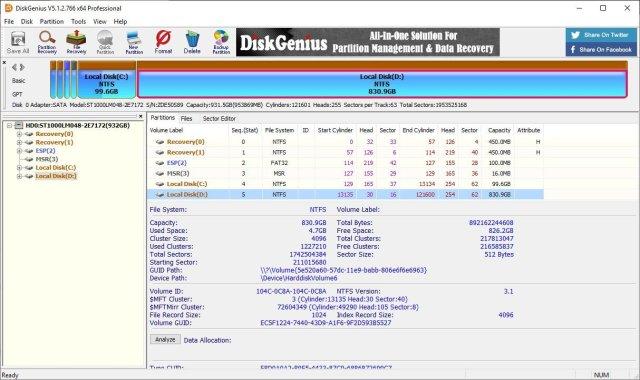DiskGenius Professional 5.4.1.1178