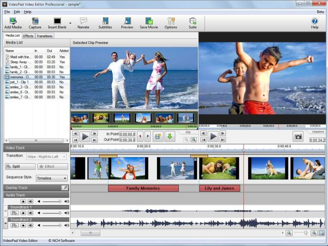 NCH VideoPad Video Editor Professional Crack free