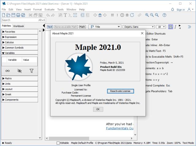 Maplesoft Maple 2021 Crack