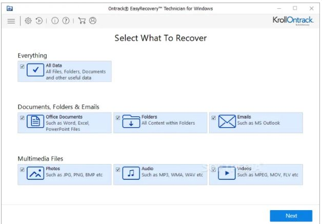 Ontrack EasyRecovery Toolkit for Windows 15.0.0.0