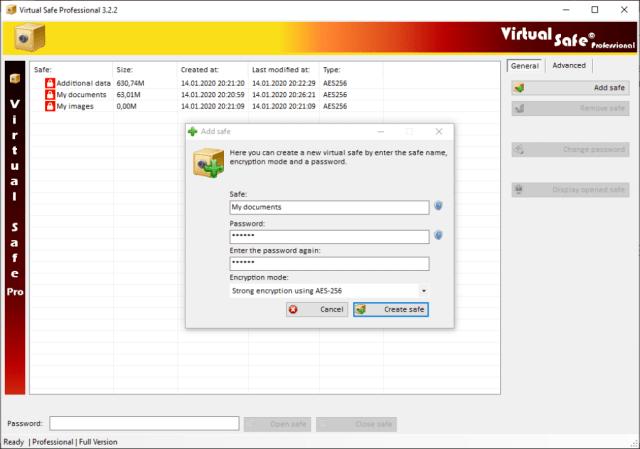 virtual-safe-professional-screenshot