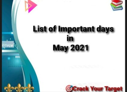 List of Important days in May