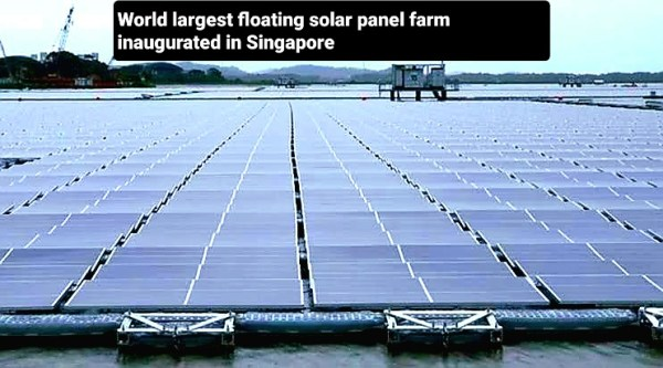 World largest floating solar panel farm inaugurated in Singapore