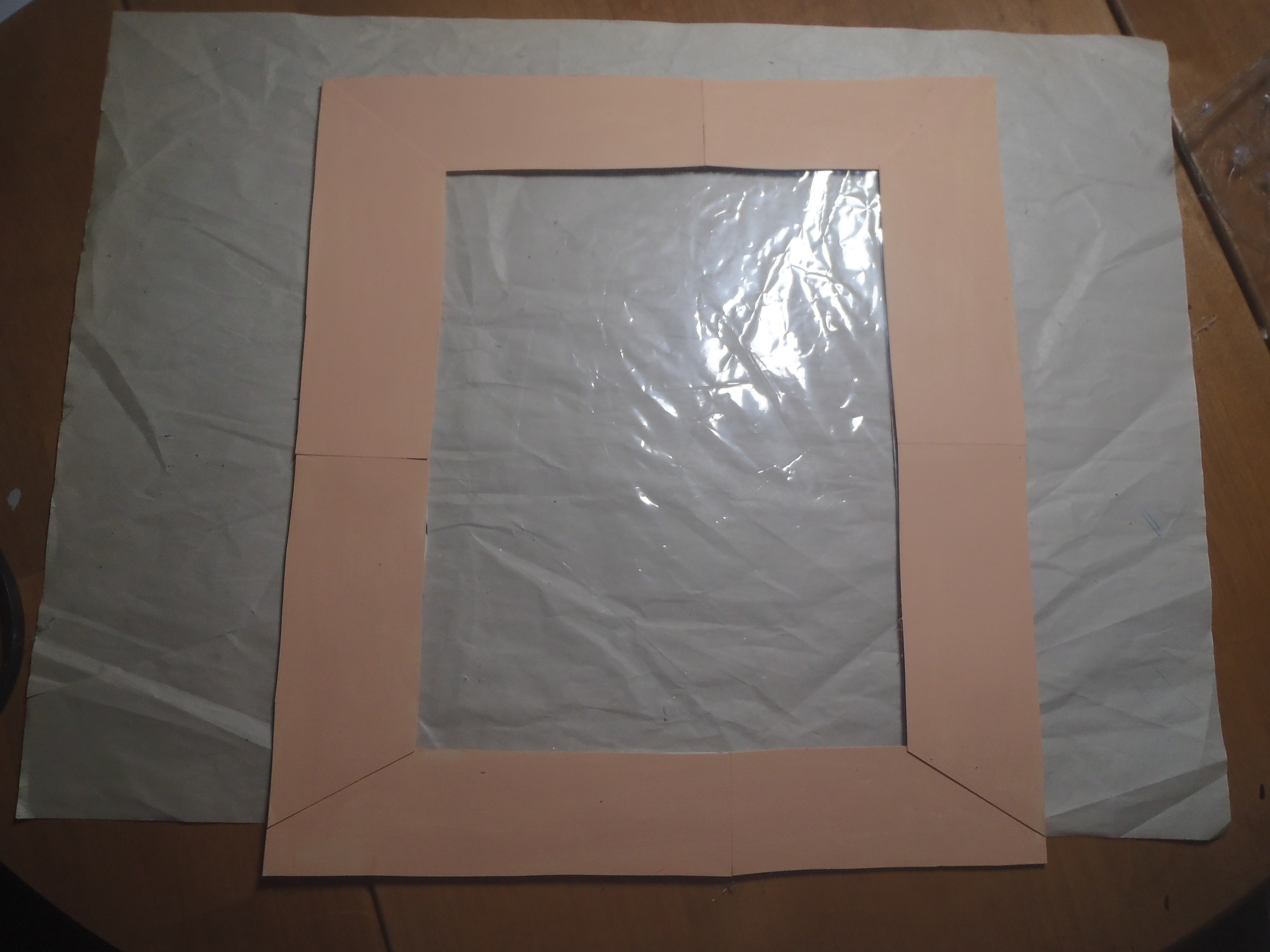How to Attach Plastic Film to Picture Frame - Craft Cycle