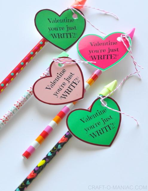 DIY Candy Free Valentines Valentine Youre Just Write