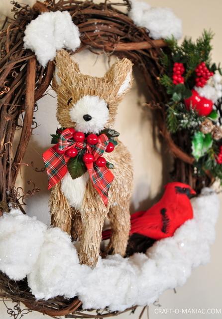 DIY Winter Woodland Christmas Wreath Craft O Maniac