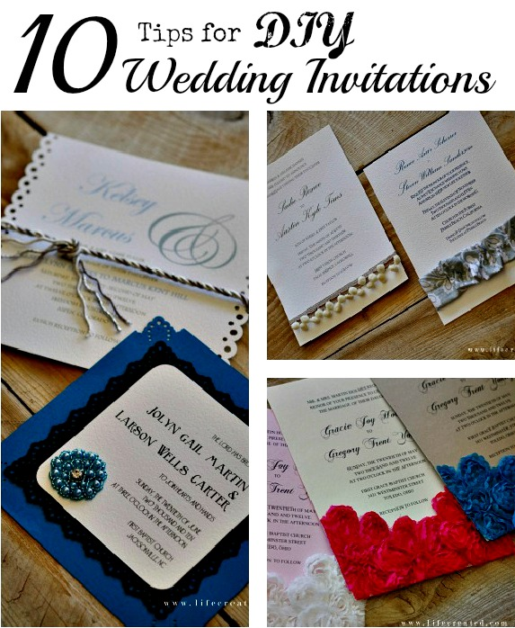 Tips For Making Diy Wedding Invitations