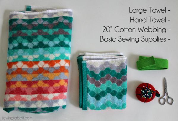 how to make a towel bag