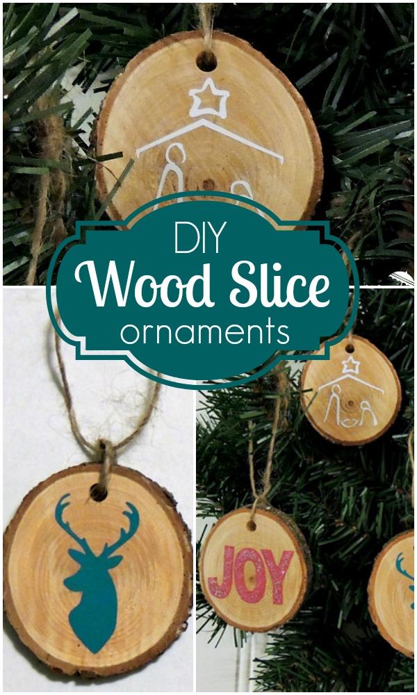 DIY Wood Slice Ornaments