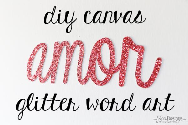 Craftaholics Anonymous Valentine Glitter Word Art