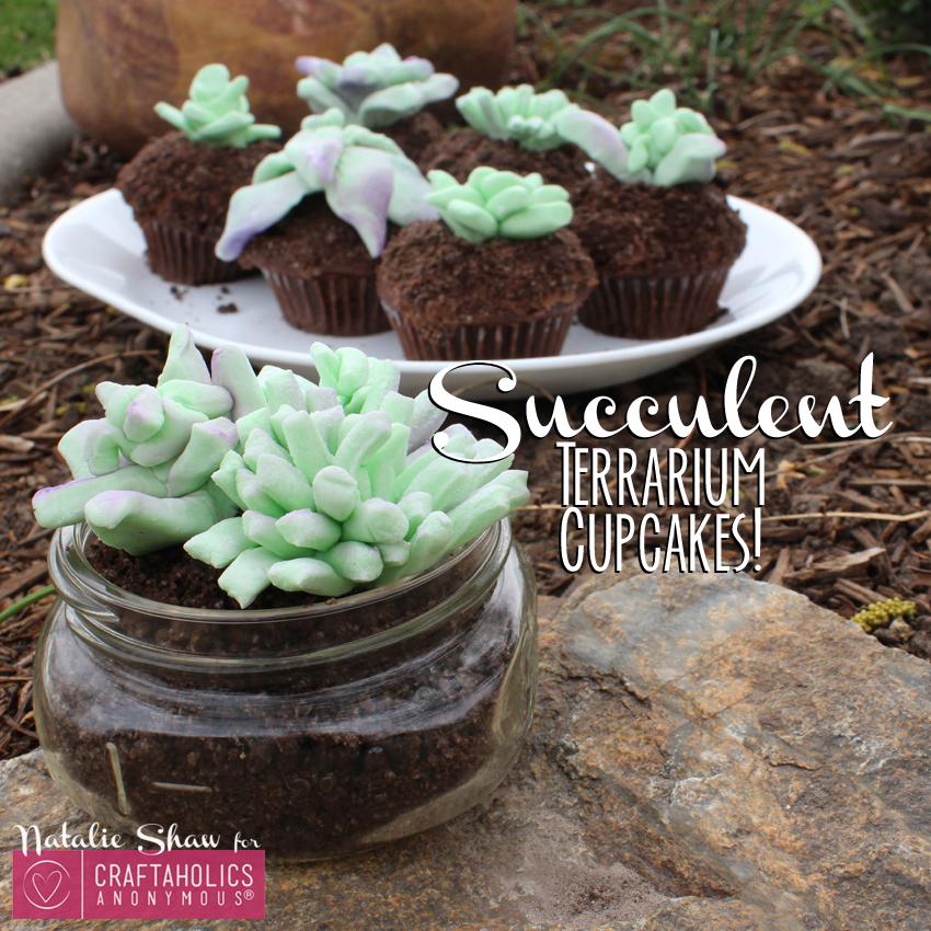 Craftaholics Anonymous Succulent Terrarium Cupcakes