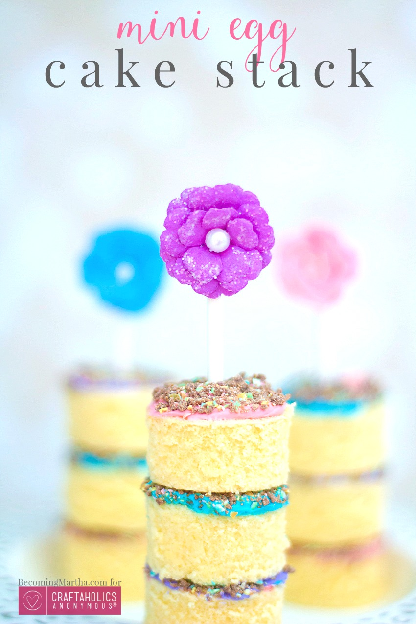 How to Make a Quick Dessert with Leftover Cadbury Mini Eggs - This cake stack uses leftover Cadbury Mini Eggs to whip a showstopping dessert in no time!