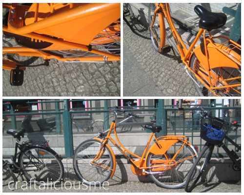 orange bicycles in Berlin