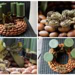 Colorful acorn wreath { advent wreath ideas }