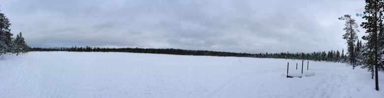 panorama levi lake