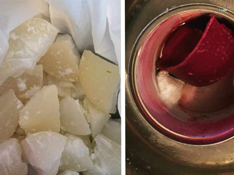 melting wax for candle making