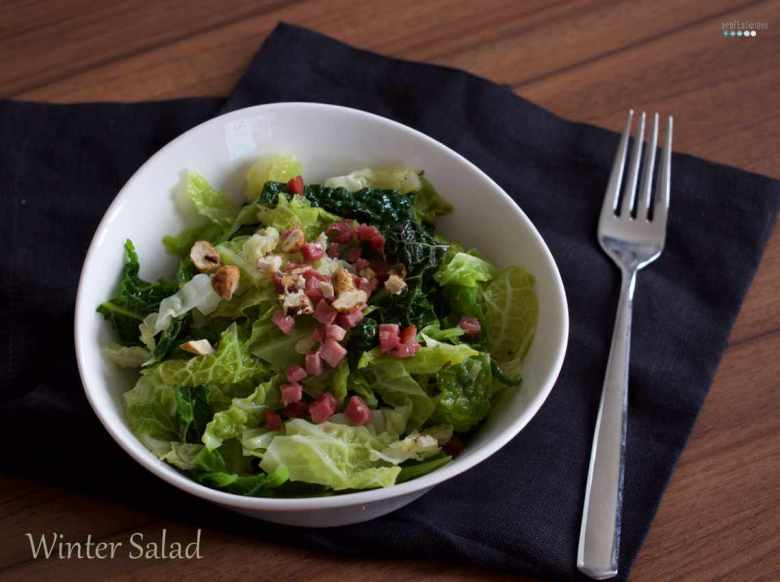 winter salad with savoy bacon tiger nut