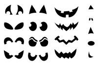 make a pumpkin jack o lantern halloween sticker sheets