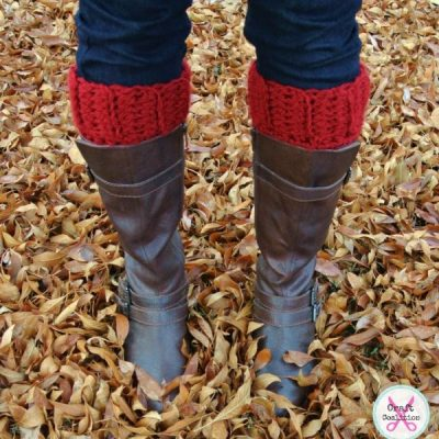 Simplicity Boot Cuffs crochet pattern – small & large sizes available
