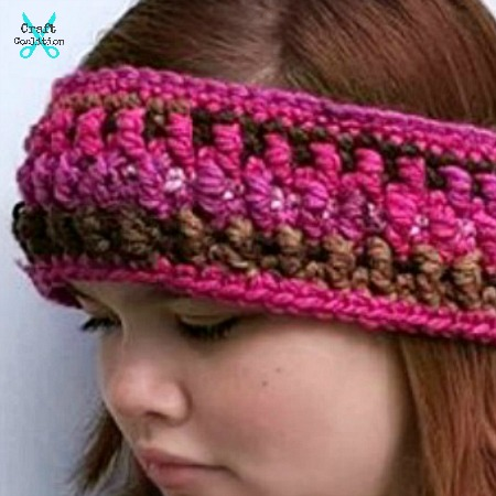 Granite Headband free crochet pattern by Mistie Bush for CraftCoalition.com rav