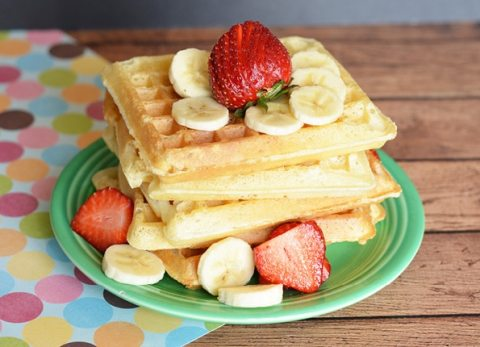 This classic waffle recipe will be a hit as your next family meal!