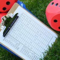DIY Yard Dice Lawn Game