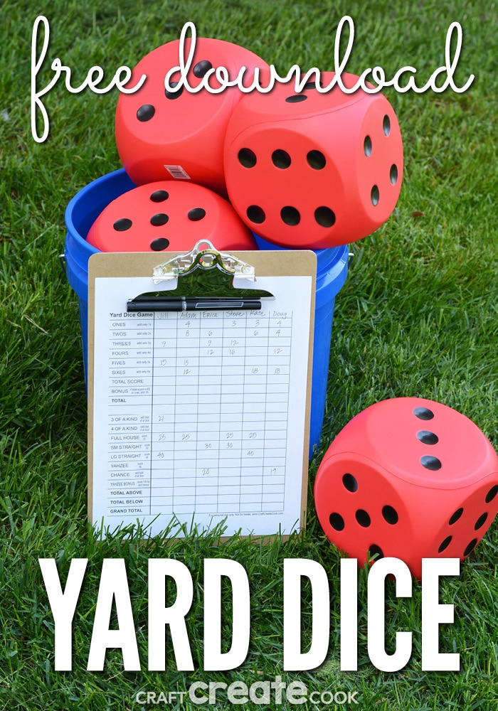 Any outdoor lawn game is a must for summer! Our DIY Yard Dice Game will be a hit at your next gathering!