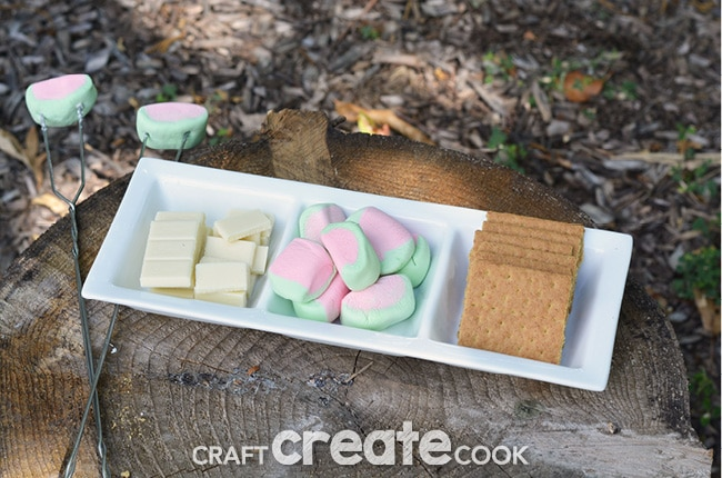 White Chocolate Watermelon Smores