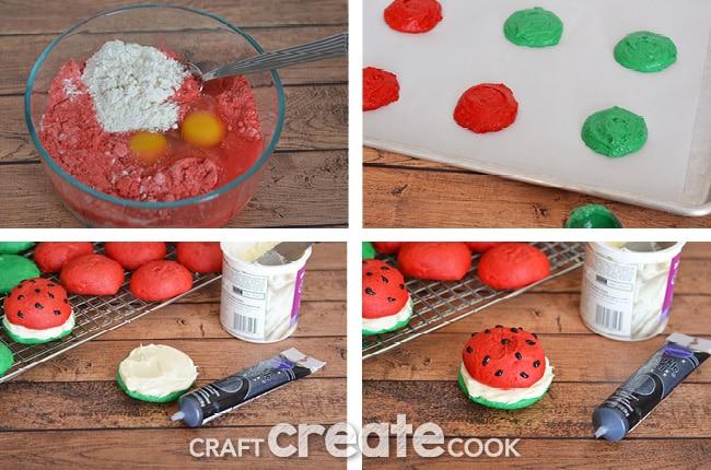 Watermelon Whoopie Pies