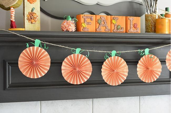 Craft Create Cook Fall Decorations Paper Pumpkins Craft Create