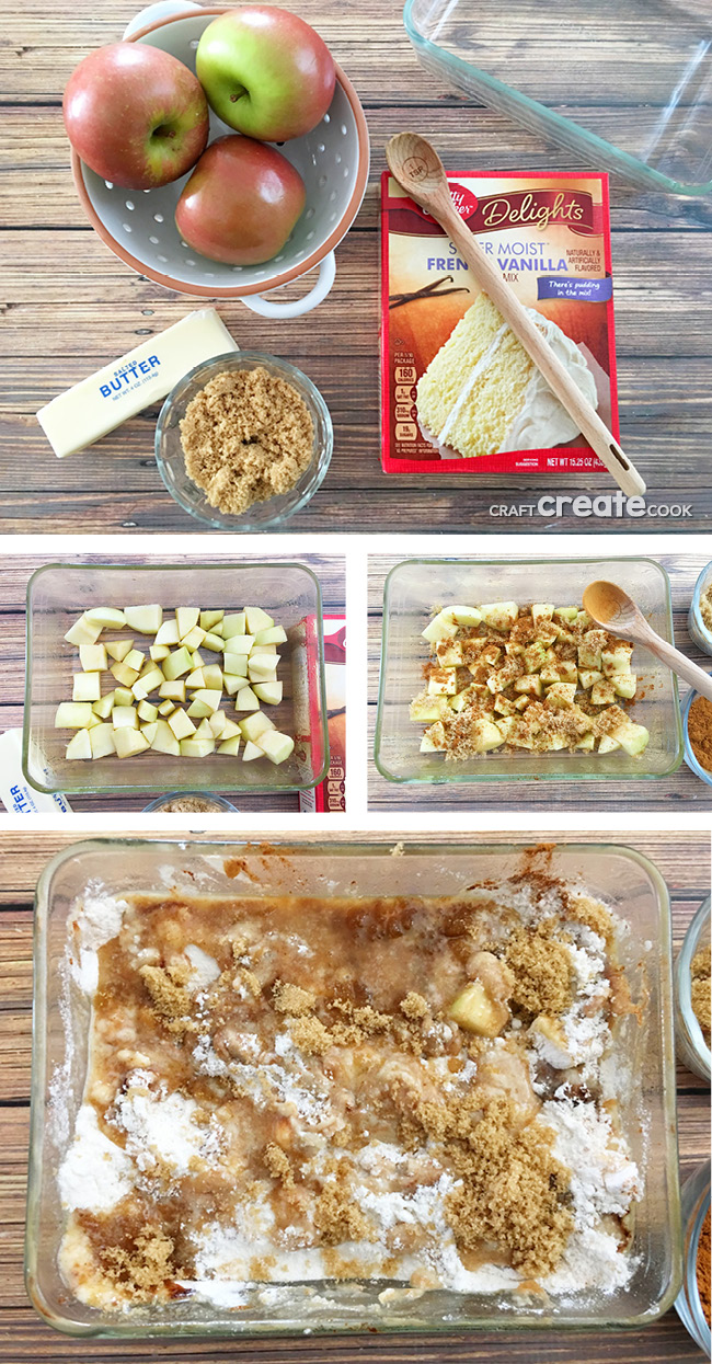 If you want your tummy to be happy, then you'll want to make this yummy Apple Dump Cake! The whole family will love you.
