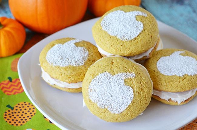 This semi-homemade pumpkin whoopie pie recipe is easy to make!