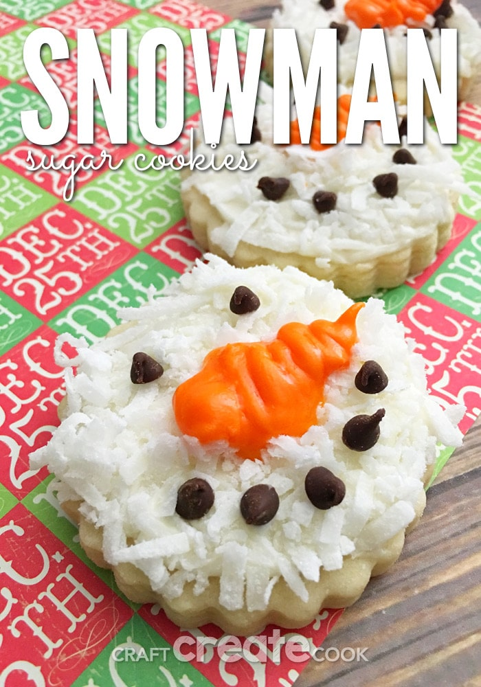 These Snowman Sugar Cookies will take your sugar cookies to a whole new level this Christmas.
