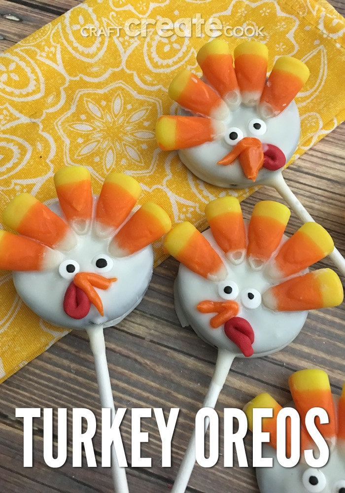 It's November and Thanksgiving is sneaking up, if you need a quick and easy dessert for the kids to make these Turkey Oreo Pops will do the trick.