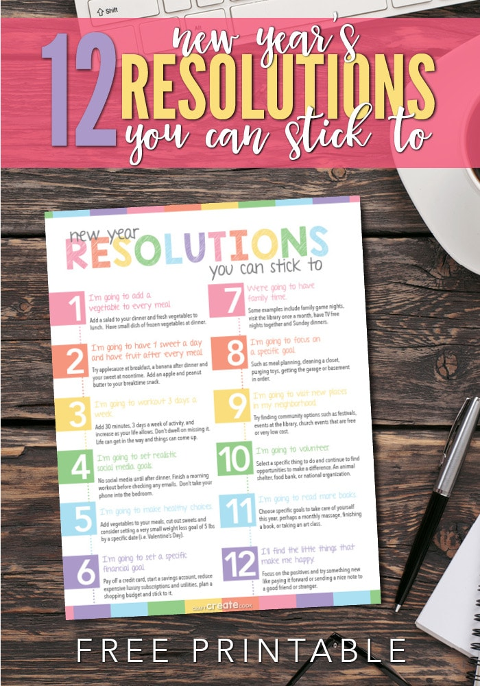 12 New Year's Resolutions you can stick to.