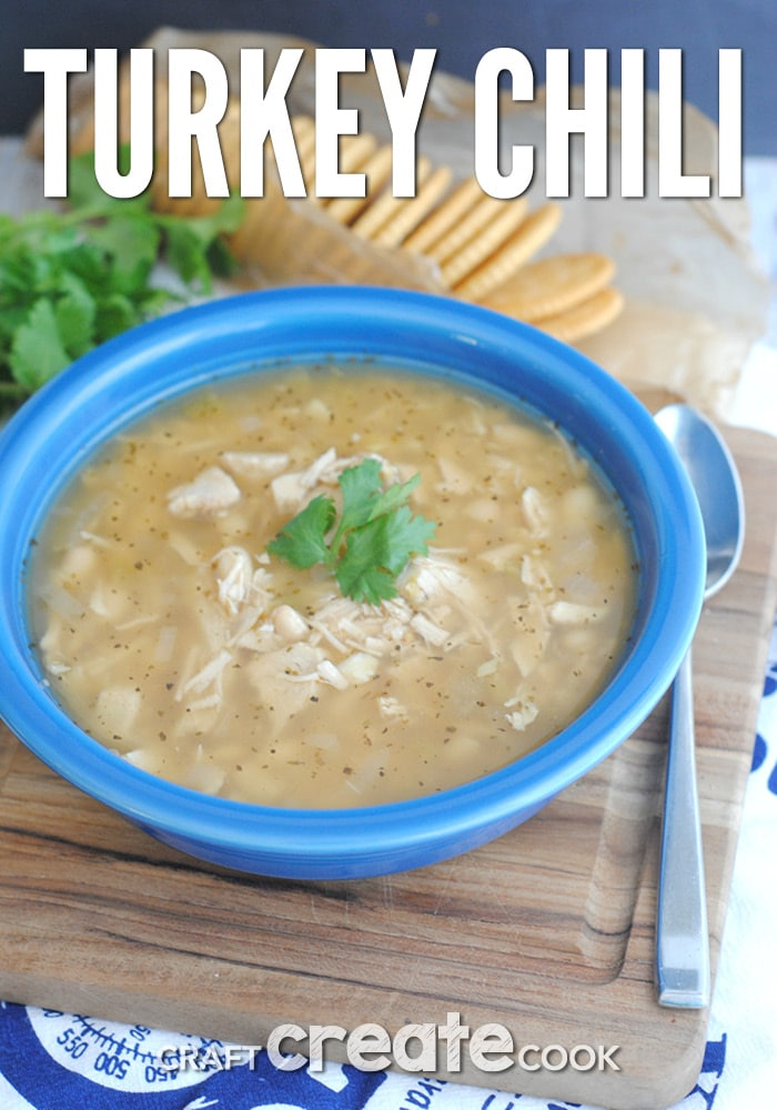 Turkey chili is great for using up leftover turkey!