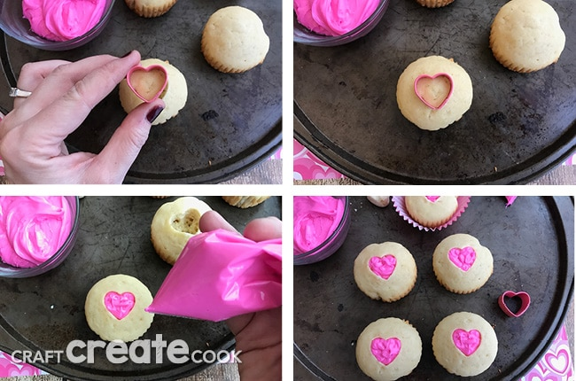 Share the love with our adorable valentine cupcakes.