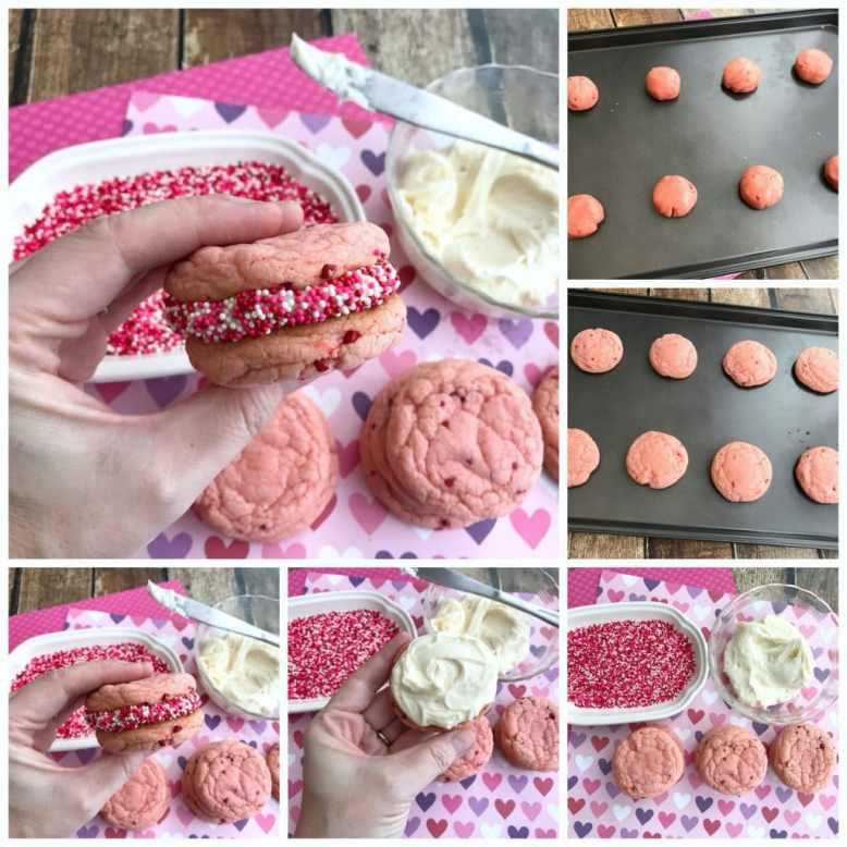 These Strawberry Valentine Cookies are perfect for Valentines Day!