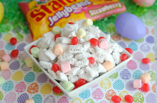 Easter Puppy Chow is the perfect snack for sharing!