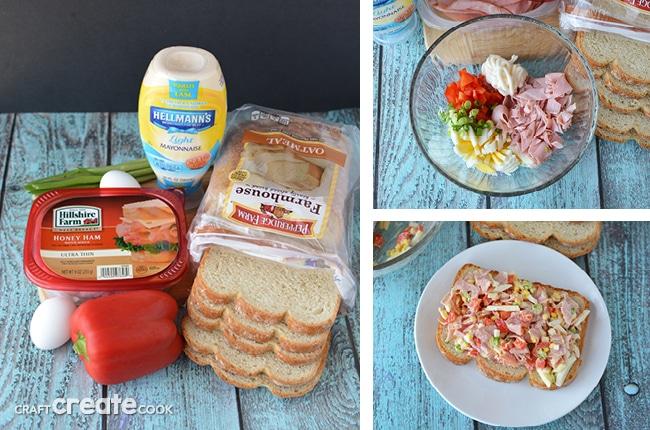 Honey Ham Egg Salad Sandwich