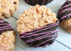 If you love chocolate covered strawberries then you need to try these Chocolate Covered Strawberry Rice Krispie Treats.