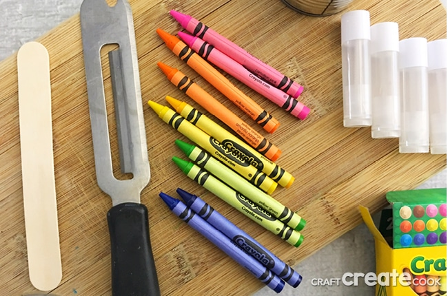 DIY Chapstick Crayons for Kids