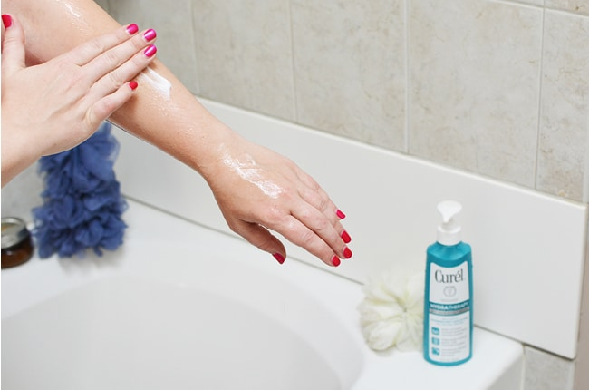 Try this wet skin moisturizing application daily to end dry skin and restore your skin's softness.