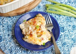 Easy to make pierogie casserole is quick, easy and delicious!